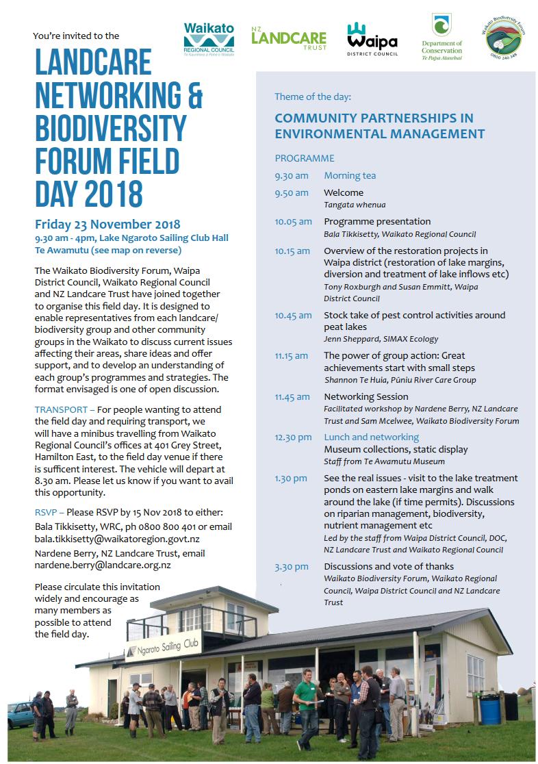 Waikato Biodiversity Forum : Connecting the Waitoa Project